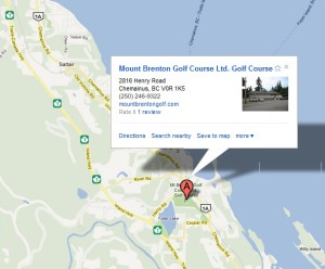 Mount Brenton Golf Course Location
